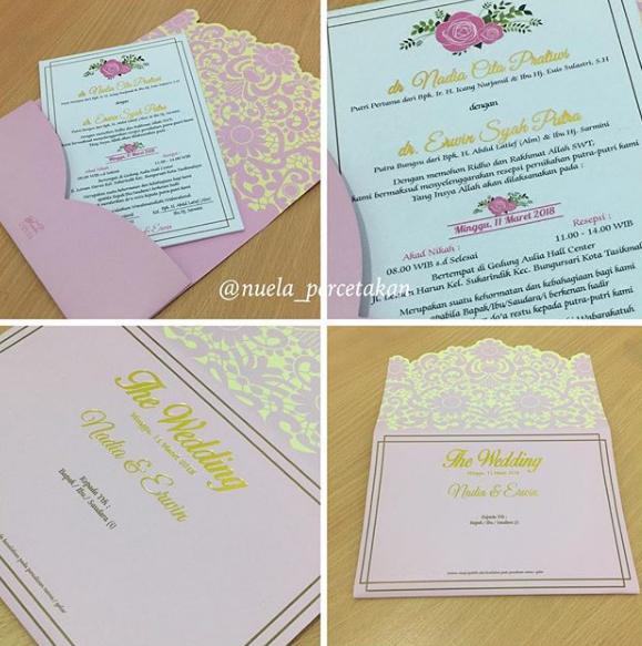 081322349644 Kartu Undangan Pernikahan Nadia Erwin Cetak