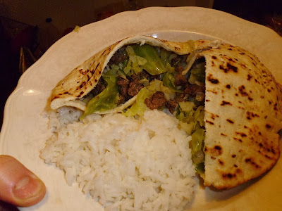 Beef and Cabbage Pita