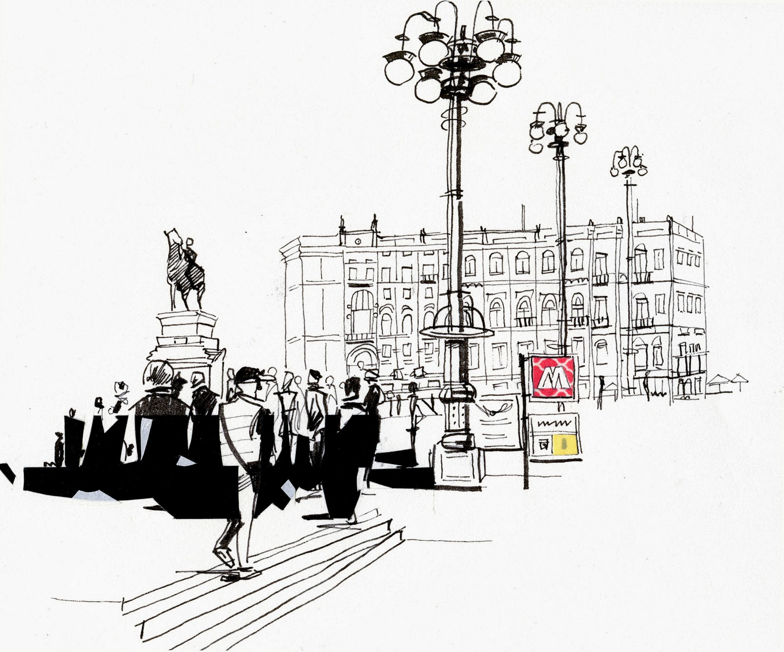 Urban Sketchers Switzerland: Andiamo a Milano