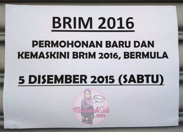 mohon BR1M 2016