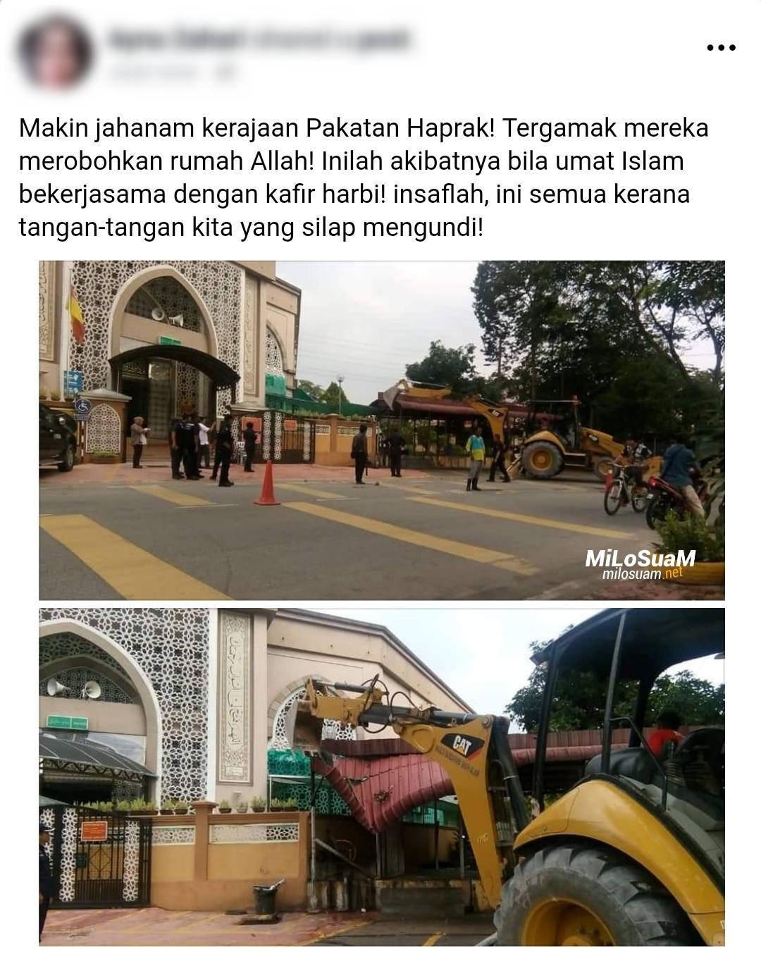 Roboh masjid shah alam