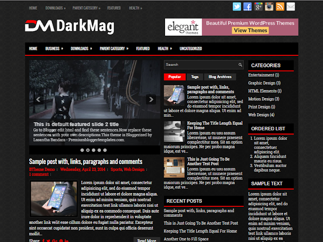 DarkMag Blogger Template