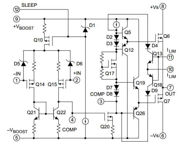 400 Watt MOSFET Operational Amplifier ~ AmplifierCircuits.com