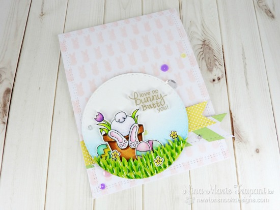 Love No Bunny Butt You Card by Nina-Marie Trapani | Bunny Hop Stamp set by Newton's Nook Designs #newtonsnook