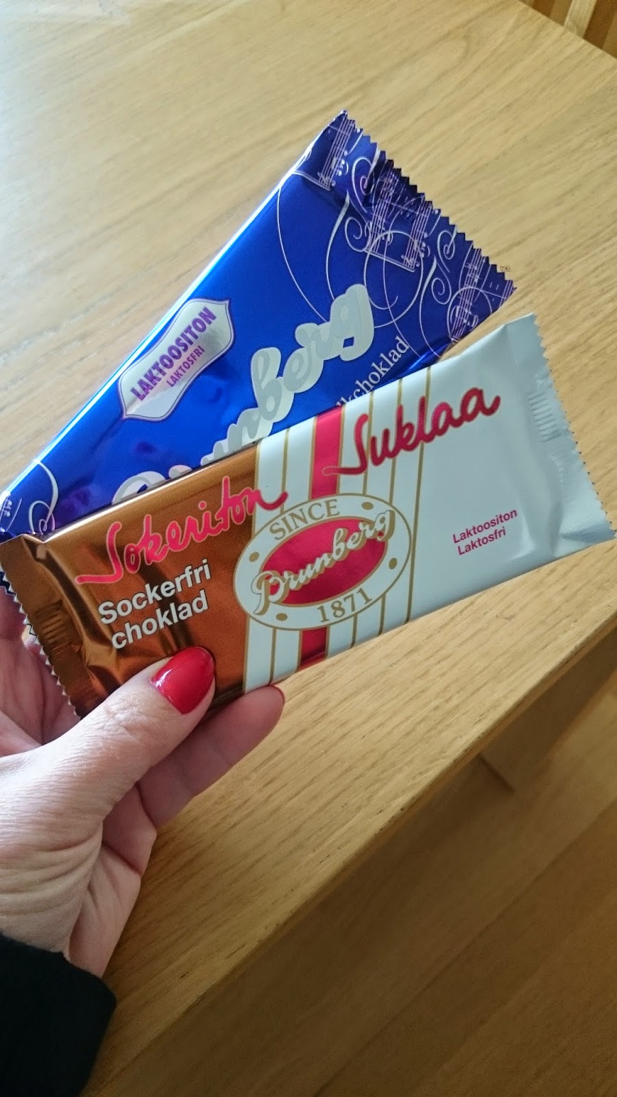 laktosfri mjölkchoklad brunberg