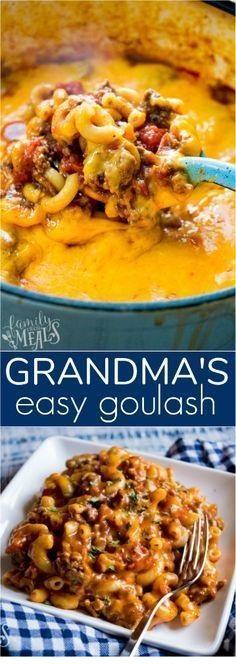 Grandma's Easy Goulash Recipe
