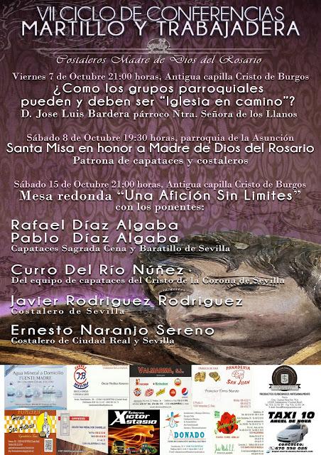 """VII Ciclo de conferencias """"Martillo y Trabajadera"""""""
