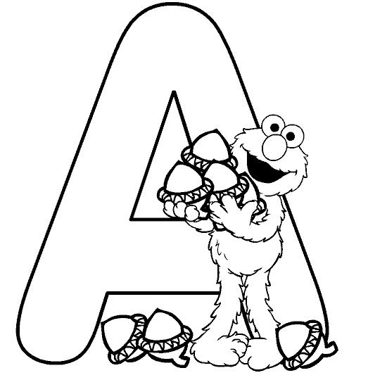 Desenhos Do Alfabeto Para Colorir E Imprimir
