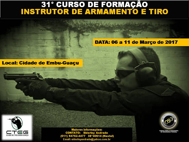 31° Curso de Formação de Instrutor de Armamento e tiro