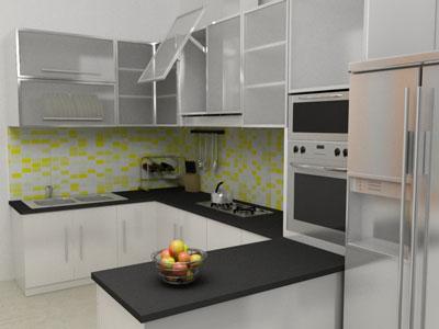 Dapur Bentuk U Desainrumahid com