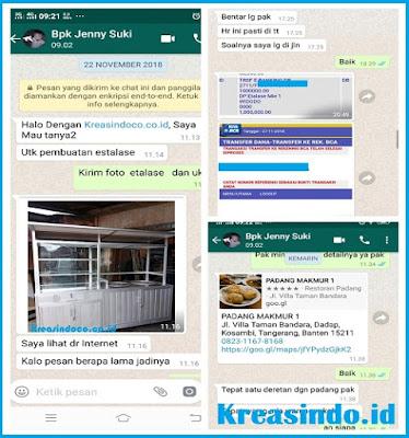 Gerobak Alumunium Bakso Dua Tungku pesanan Bpk Jenny di Kosambi Tangerang