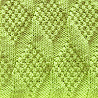 Moss Diamond and Lozenge uses only knits and purls, so even a newer knitter can knit it.