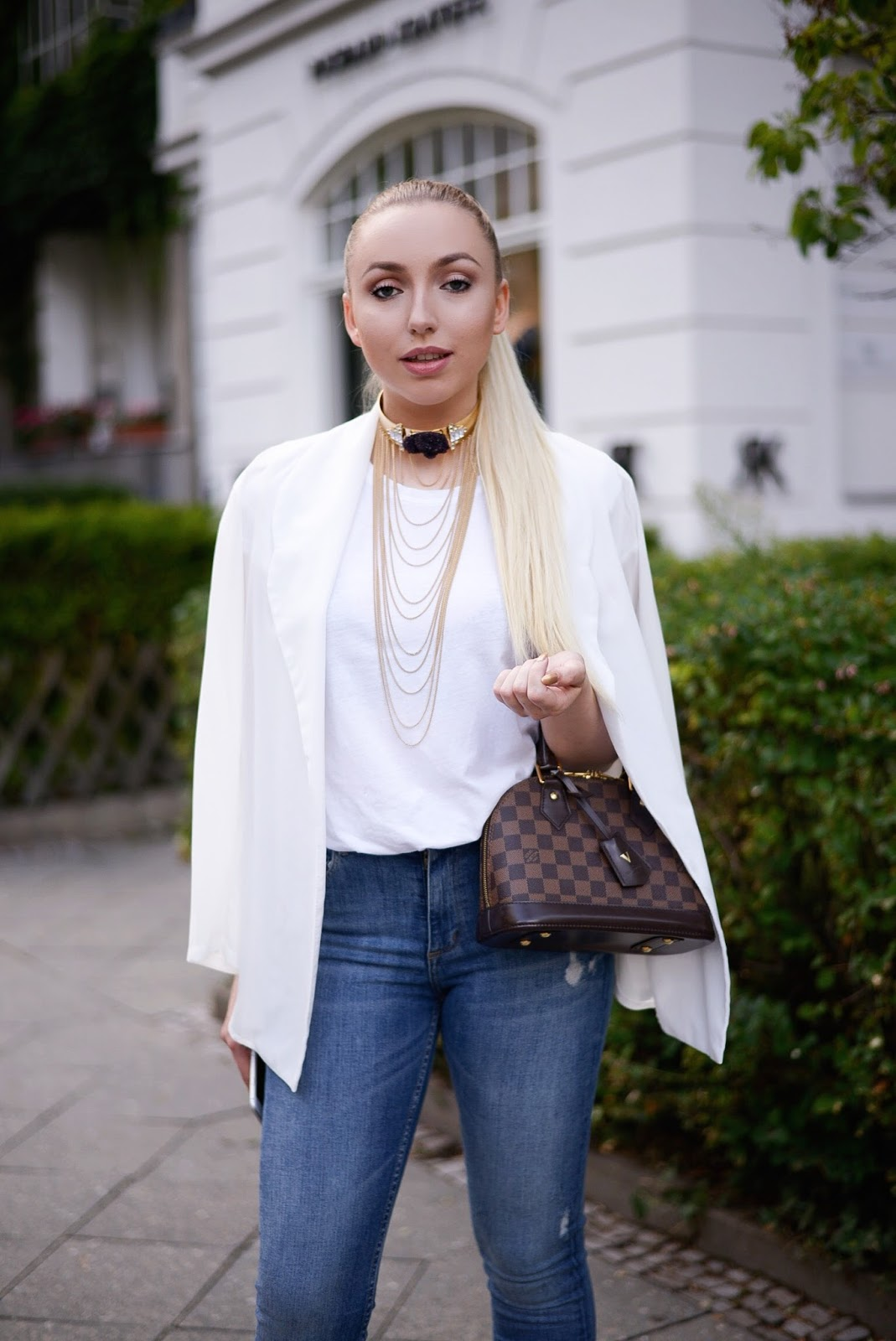white sheer blazer