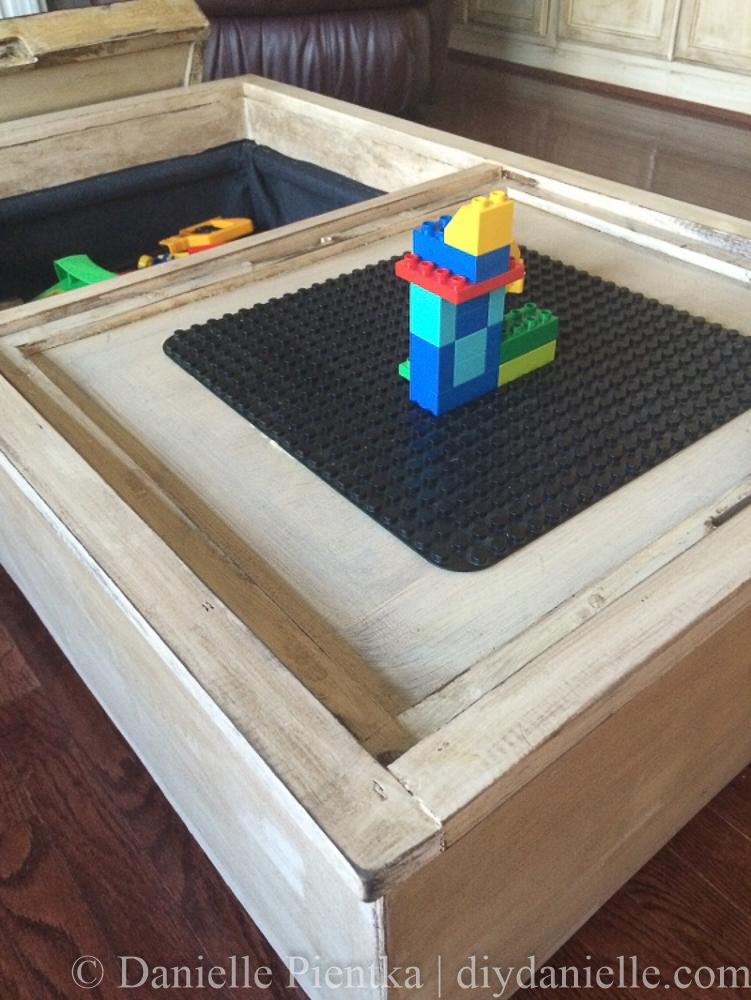 Storage Ottoman To Toy Bin And Lego Table Diy Danielle