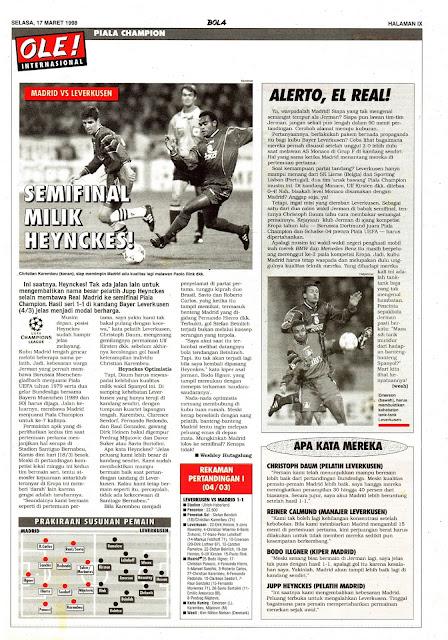 CHAMPIONS LEAGUE 1998 REAL MADRID VS BAYER LEVERKUSEN HEYNCKES