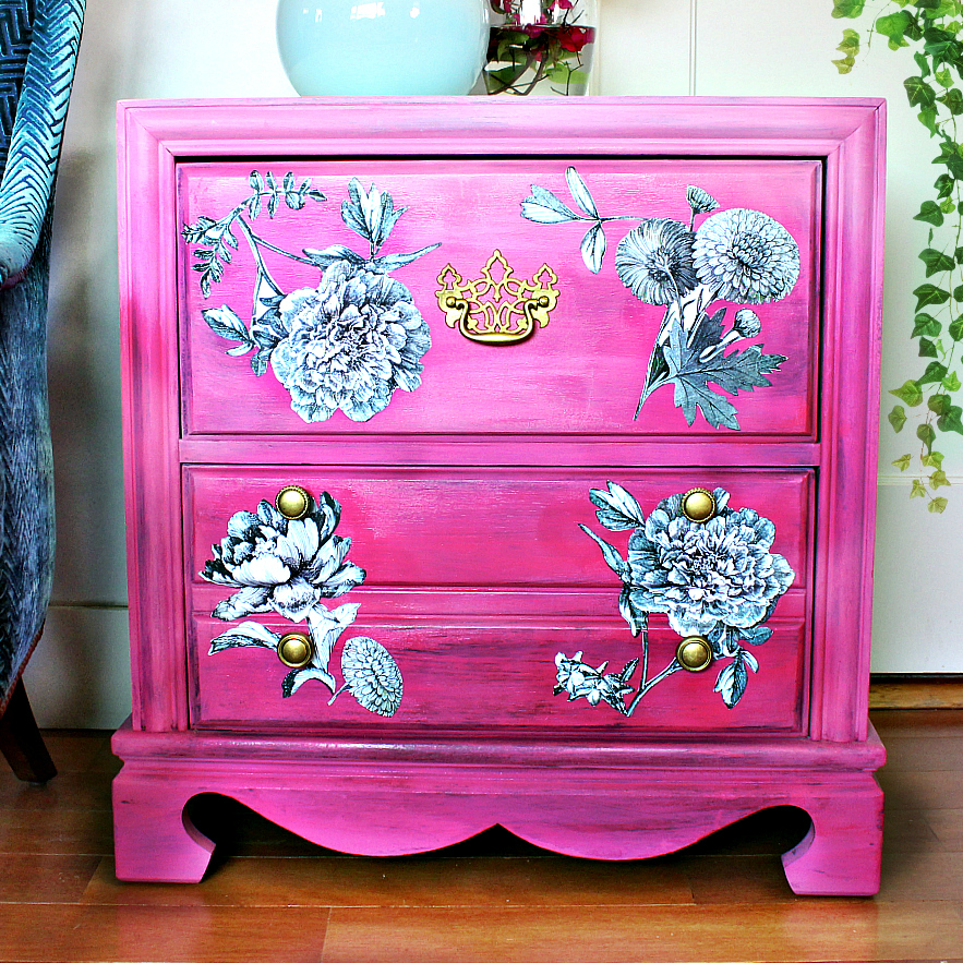 French Dresser Makeover With Unicorn Spit