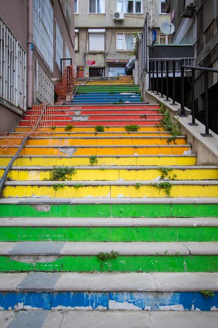Rainbow stairs-Istanbul