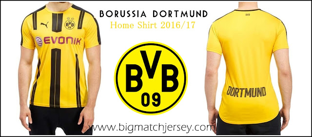 PUMA Borussia Dortmund 2016-17 Home Shirt