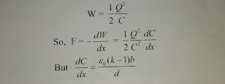 Force on a Dielectric in a Capacitor