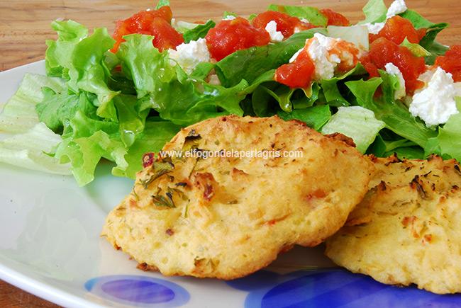 Bollitos de patata y verduras