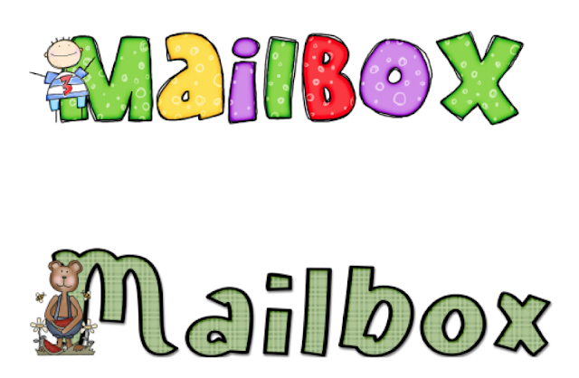 Mailbox labels for the classroom