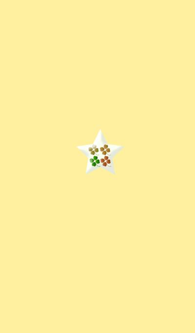 Lucky Yellow Clover Star
