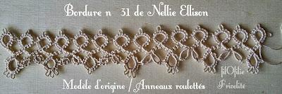 Bordure  31 de Nellie Ellison avec petits anneaux roulottés.