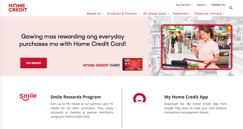 Home Credit's credit card page is now up on their website!