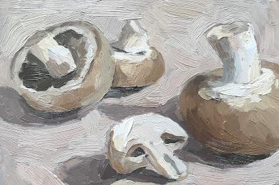 #48 'Mushrooms' 4×6″ and 4×4″