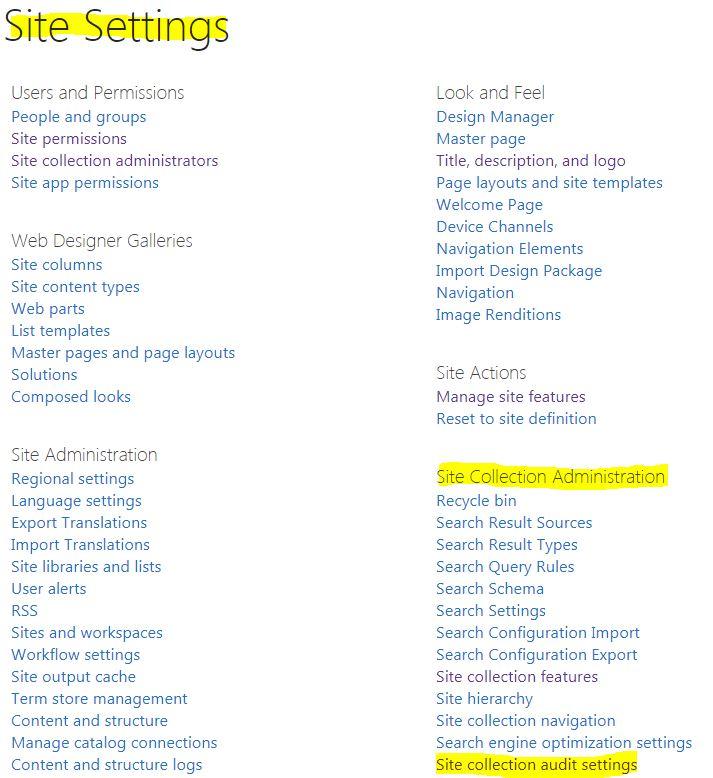 SharePoint (2003 thru Online): Enabling Audit Logs in SharePoint Online