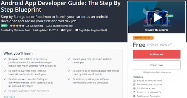 [100% Off] Android App Developer Guide: The Step By Step Blueprint| Worth 199,99$