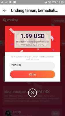 kode undangan aplikasi wesing android
