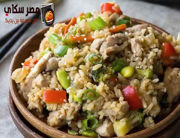 طريقة عمل طاجن الأرز بالخضار والأعشاب بالصور Rice with vegetables