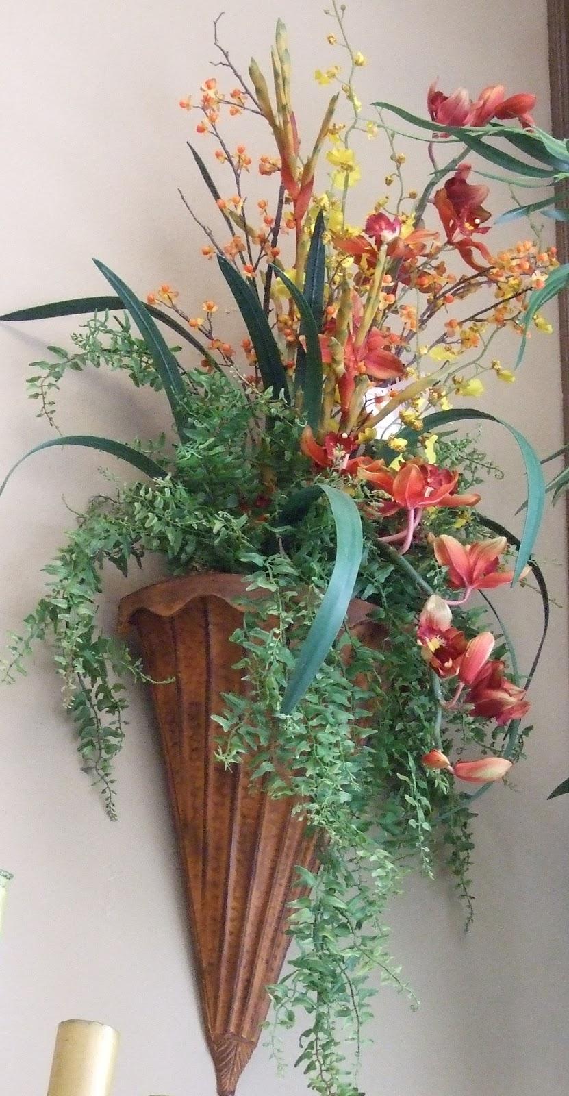 AnaSilkFlowers: Images!!!...Wall Sconces Silk Flowers ... on Wall Sconce Floral Arrangements Arrangement id=52921