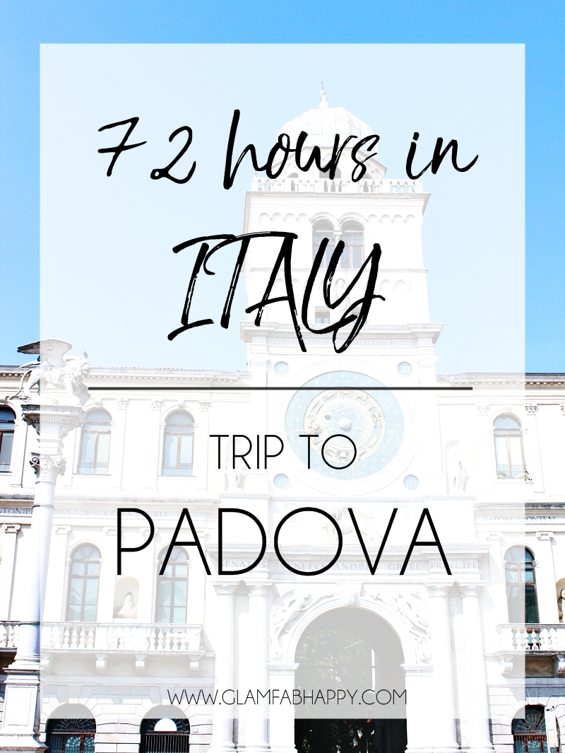 how to spend 72h in Italy: Trip to Padova Padua city