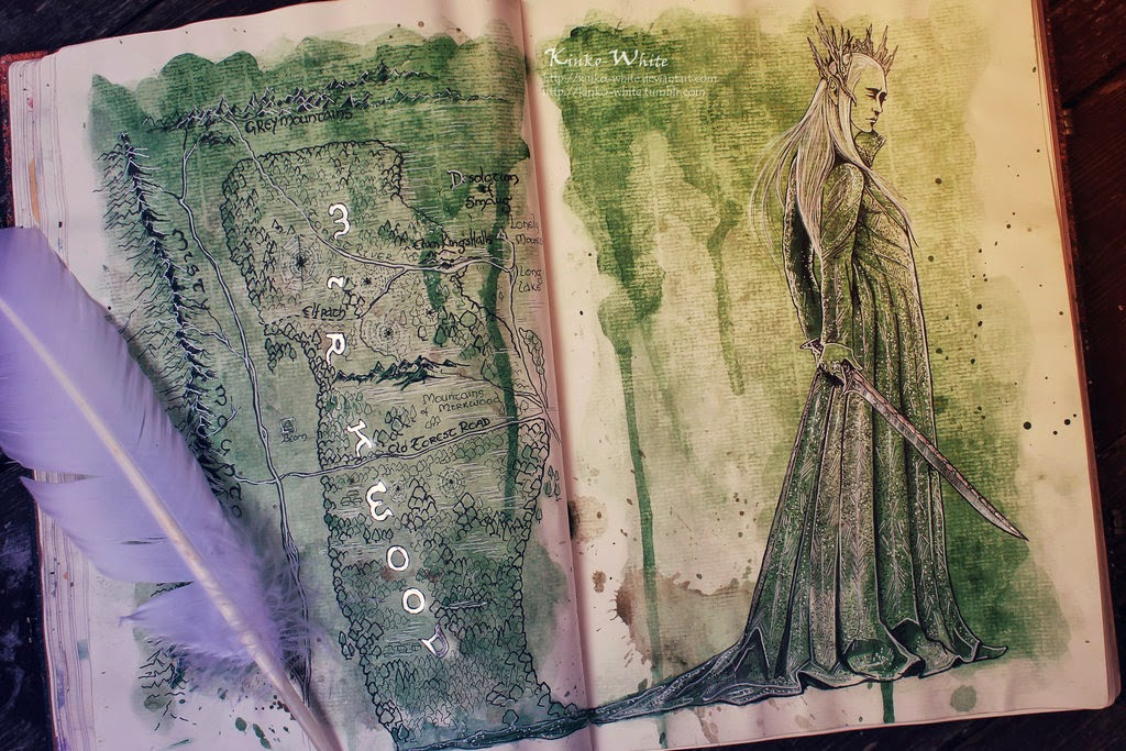 13-Mirkwood-Map-Kinko-White-The-Hobbit-Watercolors-www-designstack-co