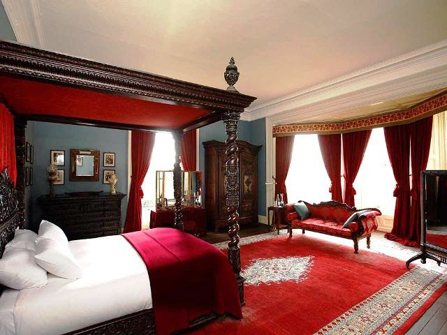 vintage red bedroom ideas