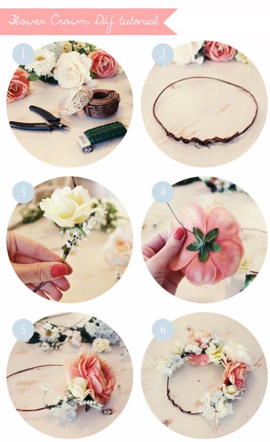 Floral crowns, coroncine di fiori, acconciature per la sposa tutorial DIY