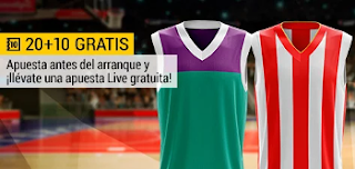 bwin promocion 10 euros Unicaja vs Estrella Roja 10 noviembre