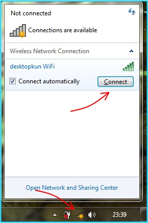 Sharing internet - koneksikan laptop ke hotspot