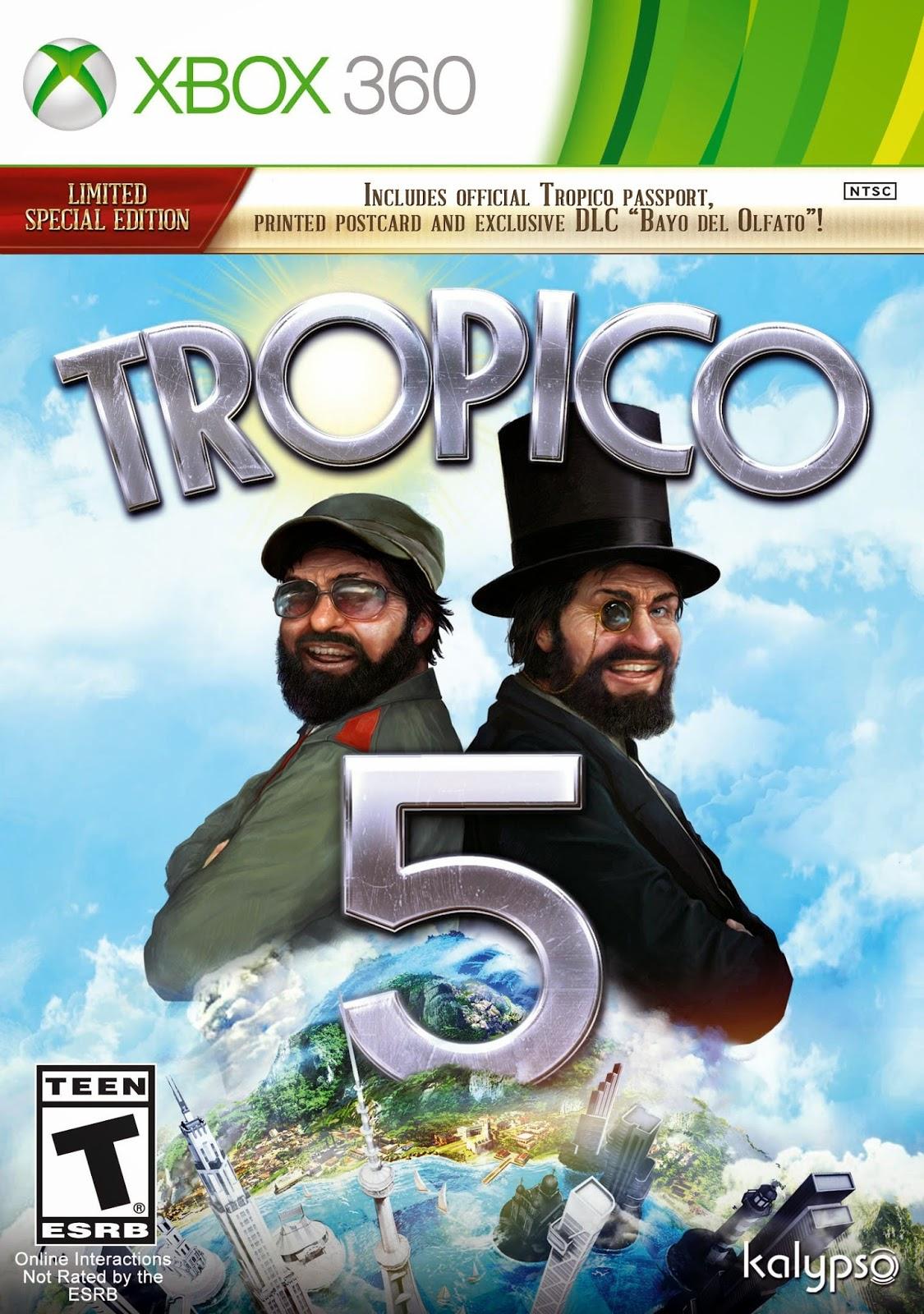 Tropico 5 XBOX 360 Cover Caratula