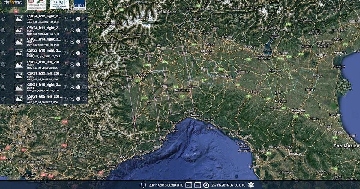 L'inondazione di liguria e piemonte vista dai satelliti