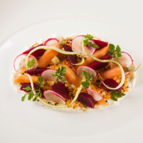 'The Rooftop Garden Vegetables Plate' from Capitol Bar and Grill in the QT Canberra