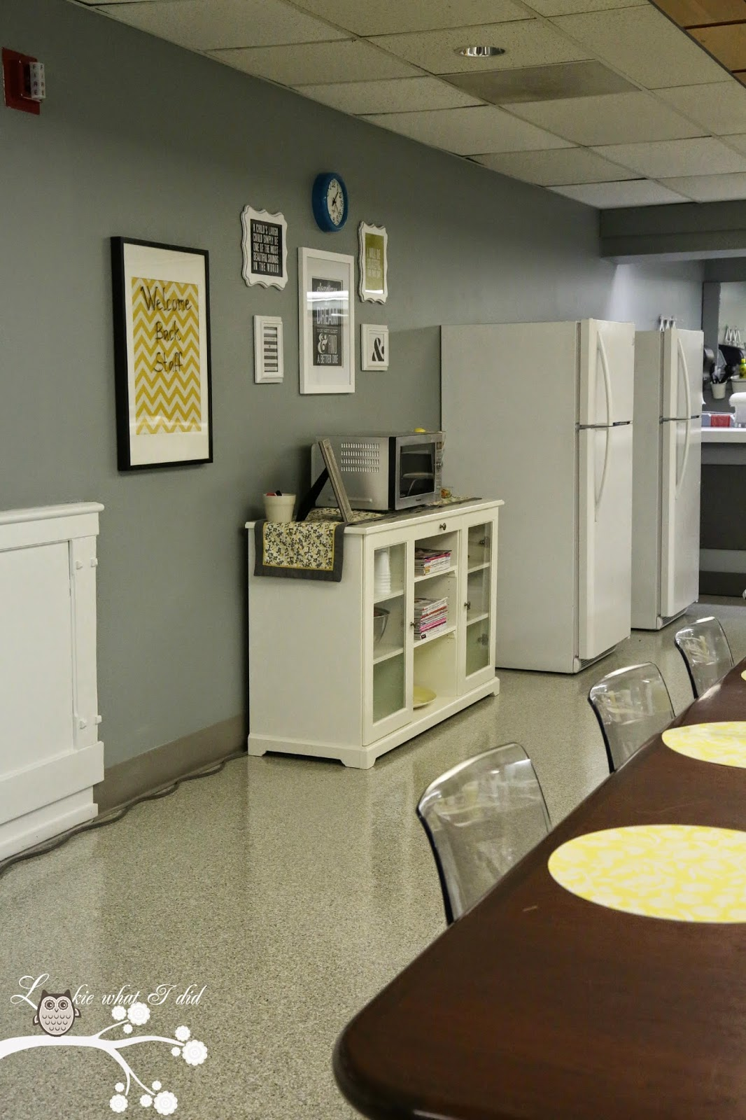 Lookie What I Did Teacher Lounge Makeover