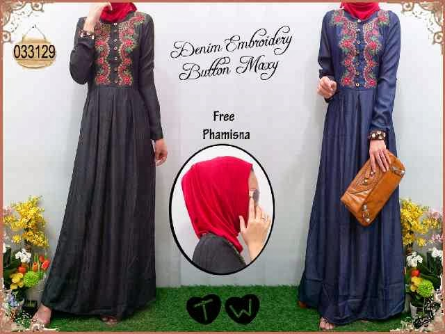 bahan denim fit to L