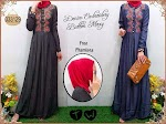 033129 Gamis Denim Bordir + Pashmina SOLD OUT