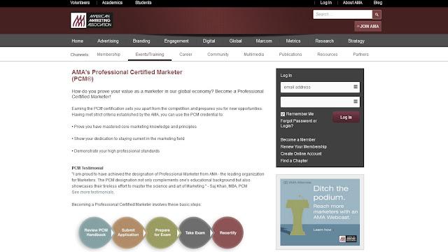 Certificado oficial en Marketing Digital de la Asociacion Americana de Marketing