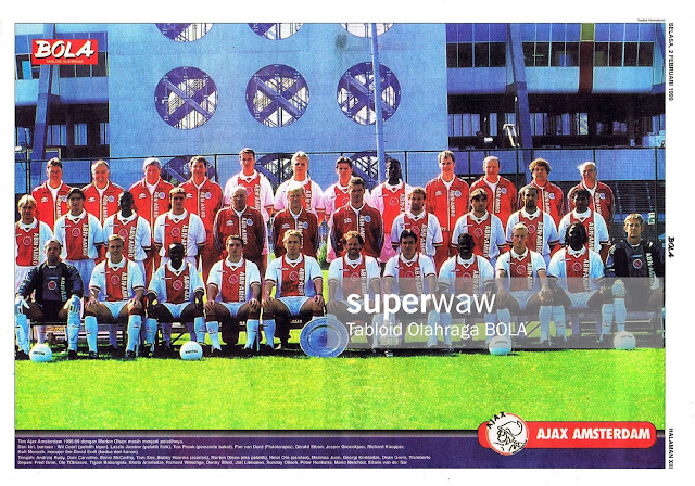 AJAX AMSTERDAM 1998 TEAM SQUAD