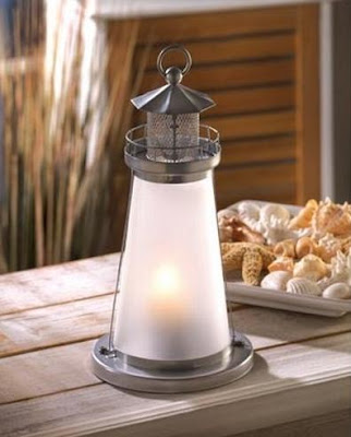 Nautical Lighthouse Candle Holder