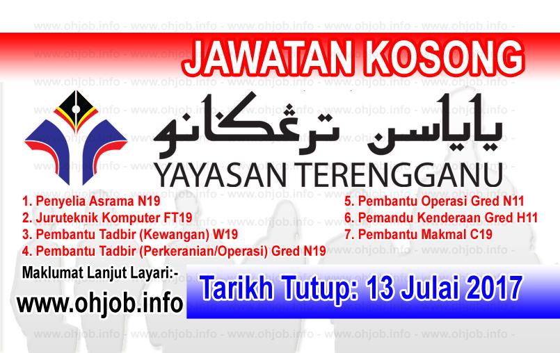 Jawatan Kerja Kosong Yayasan Terengganu - YT logo www.ohjob.info julai 2017